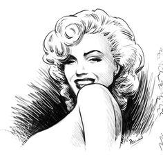 Marilyn by ~niknova on deviantART    This image first pinned to Marilyn Monroe Art board, here: http://pinterest.com/fairbanksgrafix/marilyn-monroe-art/    #Art #MarilynMonroe