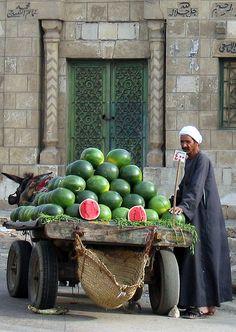 :::: PINTEREST.COM christiancross ::::  Melon Seller in Egypt