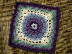 Ravelry: chitweed's Comfort-ghan Project. Crochet square from Jan Eaton.