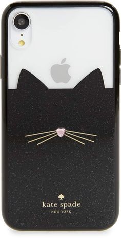 575578ff0d kate spade new york jeweled glitter cat iPhone X/Xs/Xs Max & XR case