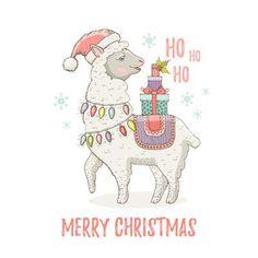 Printable Christmas Cards - Merry Llama Lights Gifts Free Printable Christmas Cards, Santa Letter Printable, Printable Cards, Free Printables, Xmas Cards, Llama Christmas, Merry Christmas Ya Filthy Animal, Christmas Crafts, Christmas Decorations