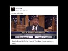 Lil Wayne says Jamie Foxx is the best Comedian Nobody can impersonate li...