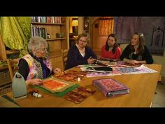 Textile design - how to use transfer paints with textile artist Mary Gamester - YouTube