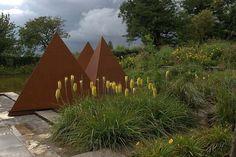 Cleve West, Landscape Design, Garden Designer, Award Winning, Steel Sculpture, Pyramids