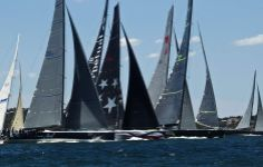 Start of the SOLAS  Big Boat Race on Sydney Harbour. Congrats Wild Oats XI