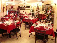 tea room at Christmas time