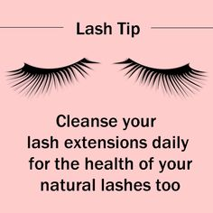 Eyelash extensions don't cause bacterial infections, but improper hygiene does. Take good care of your eyelids and natural lashes too. https://www.facebook.com/lidcleanser #eyelashextensions #lashhealth #makeupremover