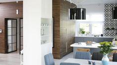 Projekt: arch. Maria Biegańska, arch. Ewelina Pik. Fot. Bartosz Jarosz Interior And Exterior, Divider, Rustic, Modern, Kitchen, Room, Furniture, Interiors, Home Decor