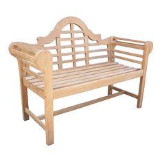 All-natural Teak Lutyens Bench