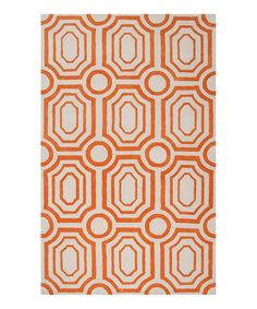 Take a look at this Golden Ochre & White Hudson Park Rug on zulily today!