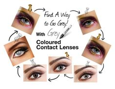 Grey Coloured Contact Lenses by colouredcontacts on Polyvore featuring beauty
