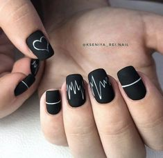 Image about black in Nails by Sasha on We Heart It Imagem de black, hands, and nails<br> Best Acrylic Nails, Acrylic Nail Designs, Nail Art Designs, Diy Nails, Swag Nails, Cute Nails, Classy Nails, Stylish Nails, Gell Nails