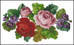 Gallery.ru / Фото #6 - Моё увлечение 1 - Suliko Cross Stitch Rose, Cross Stitch Flowers, Cross Stitch Charts, Cross Stitch Patterns, Knitting Patterns, Crewel Embroidery, Cross Stitch Embroidery, Little Designs, Crafty Craft