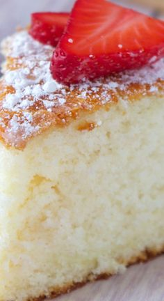 Old Southern Sugar Cake ~ Light and fluffy, this cake is subtly sweet and so easy to make.