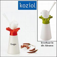 100x Koziol keramische Peper molen met zoutvaatje relatiegeschenken als kunst op uw tafel