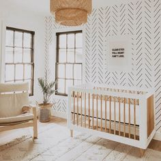Black delicate herringbone nursery wallpaper Baby room – Home Decoration Boho Nursery, Nursery Neutral, Nursery Decor, Neutral Nurseries, Accent Wall Nursery, Hipster Nursery, Bedroom Wallpaper Accent Wall, Wall Paper Nursery, Modern Nurseries