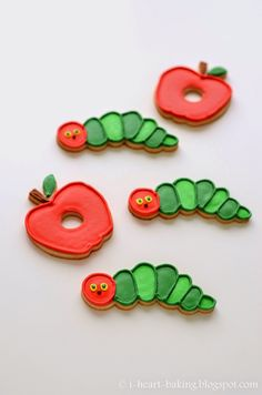 i heart baking!: very hungry caterpillar cookies