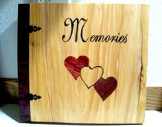 Wood Inlay Memories Scrapbook / Photo by BillsWoodenPleasures, $73.50
