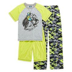 Jelli Fish Kids 3-pc. Lion Pajama Set - Boys 4-16  found at @JCPenney