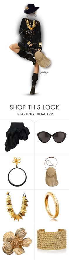 """""""Hoops"""" by rockreborn ❤ liked on Polyvore featuring Kelly Ewing, The Row, Chanel, Patricia Nash, Viktoria Hayman, Astley Clarke, Tiffany & Co., Yves Saint Laurent and vintage"""