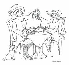 Printable Tea Party Coloring Page 1 Coolest Free Printables
