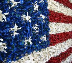 If It's Hip, It's Here: The American Flag Made of Toy Soldiers, Sneakers, Legos…
