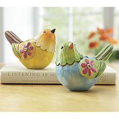 Set of ceramic birds Paper Mache Projects, Paper Mache Clay, Paper Mache Sculpture, Paper Mache Crafts, Bird Crafts, Clay Crafts, Clay Art, Sculpture Ideas, Clay Birds