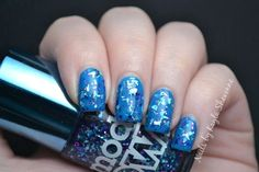 Sparkling blue nails - Models Own 'Swatched!'