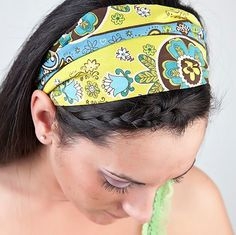 Bohemian Hair Band Lime Green Turquoise by SpecificallyRandom, $12.00... I so want one!