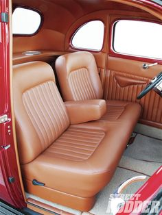 1940 Ford Standard Coupe Ron Mangus Leather Interior