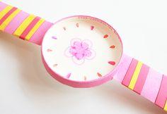 엄마표 미술놀이 벚꽃 시계 만들기 : 네이버 블로그 Activities For Kids, Watch, Clock, Children Activities, Bracelet Watch, Clocks, Kid Activities, Petite Section, Kid Crafts