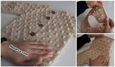 sis-fistikli-bebek-hirka-tam-anltimli-tarifi Sweater Design, Knitting Patterns, Gloves, Cute, Sweaters, Baby, How To Wear, Fashion, Crochet Baby