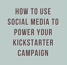 Social Media for Filmmakers - Vincent Etter, founder of Sidekick, a website that predicts the success of Kickstarter campaigns, says that successful projects tend to have three times more tweets than failed ones.