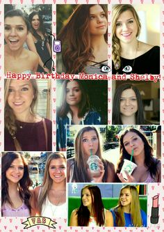 Happy Birthday Monica and Shelby Church! I love your youtube channels. You guys are the best. And even i have a twin too. Your channels again are so amazing. Hope you had a great day! Created by Lucia Isabella 2-10-15 Monica Church, You Youtube, Have A Great Day, Daughters, Youtubers, Twins, Happy Birthday, Guys, Lady