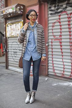 curvesincolor: Street Style.   BGKI - the #1 website to view fashionable & stylish black girls shopBGKI today