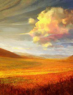 ☼ Painterly Landscape Escape ☼ landscape painting by Josh Calloway