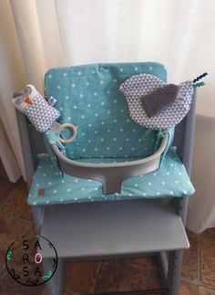 Sewing instructions seat cushion for Tripp Trapp (Stokke) - Nähen - Baby Diy Diy Gifts For Kids, Crafts For Girls, Kids Crafts, Sewing Patterns Free, Free Sewing, Animal Set, Coin Couture, Easy Baby Blanket, Baby Blankets