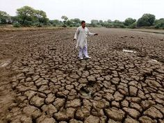 Indian farmers seen standing in bare fields of cracked earth.Not Just in the US and India — It's Global. The Centers of Continents Start to Dry Out. And it's not just in the United States and India. Each year now, such summertime stories tend to be increasingly frequent from all continents — from Europe and Asia, South America and both East and West Africa… from Italy, Brazil and China, and from Gambia on Africa's Atlantic coast to Somalia on Africa's Horn protruding into the Indian Ocean.