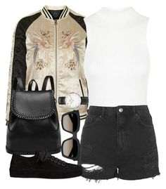 """""""Untitled #1812"""" by roxy-camarena on Polyvore featuring Topshop, Ann Demeulemeester, Yves Saint Laurent and Daniel Wellington"""