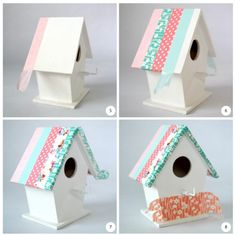 bird's houses with washi tape