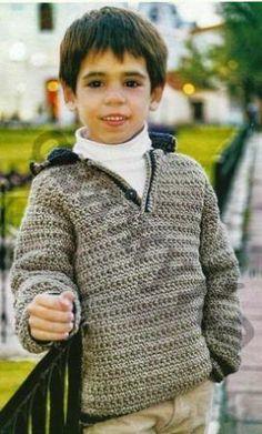 пуловер для мальчика вязаный крючком