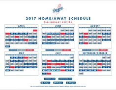 "Dodger Insider on Twitter: ""A sneak peek at the 2017 #Dodgers schedule, with all…"