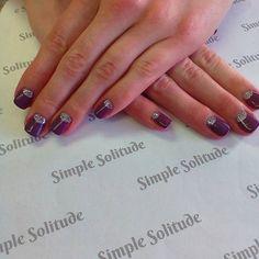 """#purple #glitter #gelpolishmanicure #manicure #polished #rockyournails #polish #instanails #instabeauty #askforgenia #nailartdaily #glitteroneverything"""