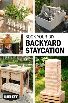 Backyard Projects, Diy Wood Projects, Outdoor Projects, Home Projects, Woodworking Projects, Outdoor Decor, Woodworking Plans, Yard Games, Staycation