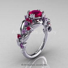 Nature Classic 14K White Gold 1.0 Ct Rose Ruby Lilac by artmasters, $1249.00