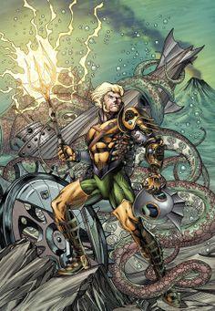 Aquaman #28 Steampunk Variant - Richard Horle