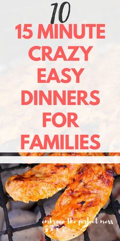 These are such easy 15 minute dinner recipes for families. There are so many times we need these quick recipes. #15minutedinnerrecipes #15minutemeals #15minuterecipes