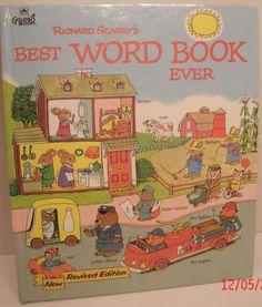 Richard Scarry's Best Word Book Ever 1992 Hardcover Golden Book Classic Kids