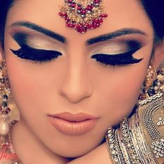 Just Beautiful! Who says every desi bride needs to wear a red lip?!