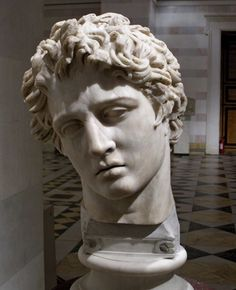 Hellenistic sculpture possibly depicting a wary Alexander the Great.Hermitage Museum